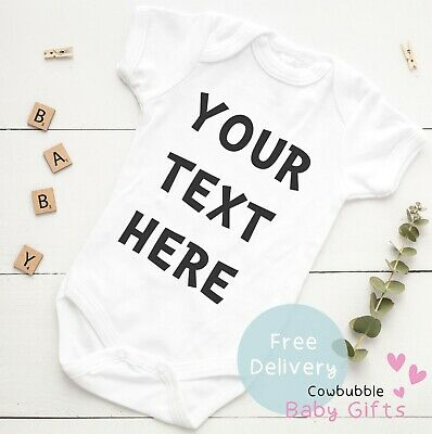 Personalised Baby Vest (NEW) Ideal Gift, Baby Shower or 1st Birthday Baby Grow