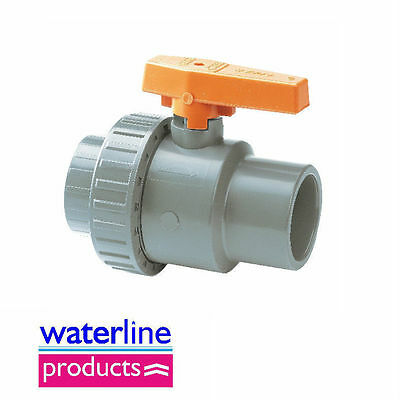 Standard Single Union Ball Valve Grey uPVC Pipe Fitting
