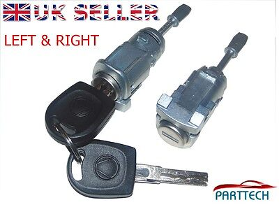 VW POLO 9N 4/5 DOOR COMPLETE DOOR LOCK SET + 2 KEYS FRONT RIGHT and LEFT