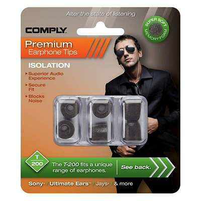 Comply Foam Ear Tips Isolation T-200 - 3 Pairs - Official UK distributor