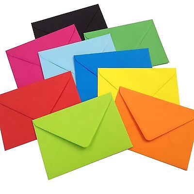 C6 Coloured Envelopes for Greeting Cards - 114mm x 162mm for A6 Luxury