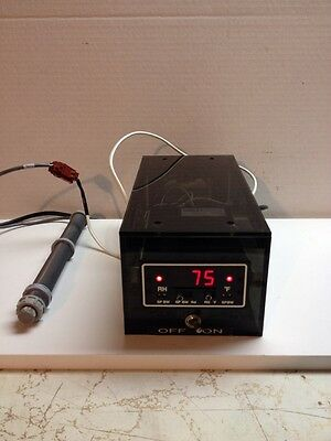 Omega Temperature / Humidity Controller RHCN-1F Mounted In Enclosure With Sensor