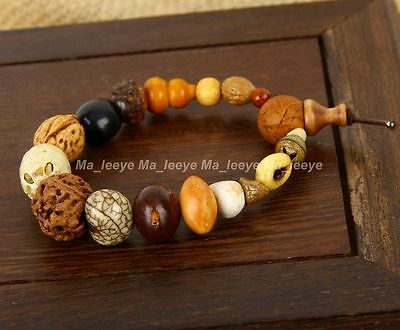 18 Bodhi Seed Mala Tibet Buddhist meditation Beads adjustable Prayer bracelets