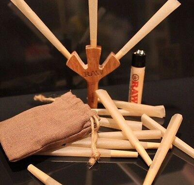 Raw king size cones 50 with raw trident smoke three at once with free raw lighte