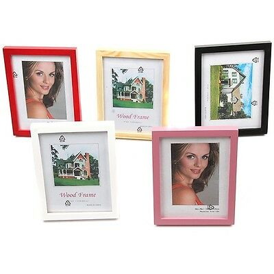 A5-6-7-8 Fashion Home Room Decoration Wooden Picture Photo Wall Frame 5 Colors G