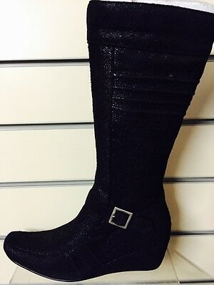 Women's Ladies Girls Hell Cat Boots Black Or Camel