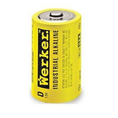 WERKER - WKDB - Industrial Alkaline - D Batteries - 6 Pack