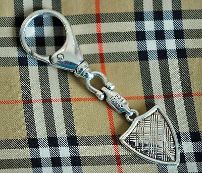 Vintage Burberry .925 Solid Sterling Silver Keychain