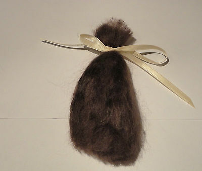 1/2 ounce brown soft  quality mohair - easy to root your babies hair