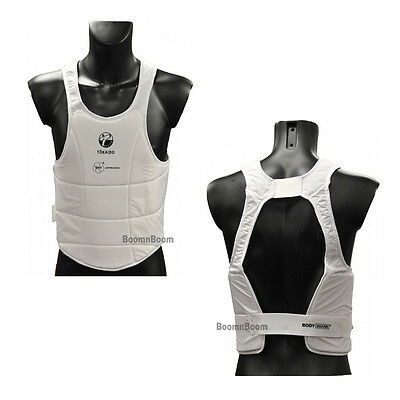 New Tokaido WKF Approved Karate Body Protector Chest Guard Karate Sparring Gear