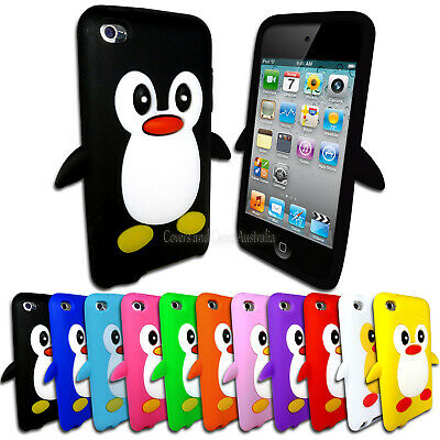 NEW Soft Penguin Case for Apple iPod Touch 4 4th GEN 4G Silicone Rubber Cover
