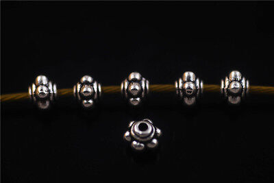 Wholesale 100pcs Tibetan Silver Jewelry Making Metal Beads Spacer Charms 4x5mm