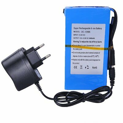 Batería recargable DC12V de iones de litio 6800-20000mAh +Enchufe EU INHDBOX