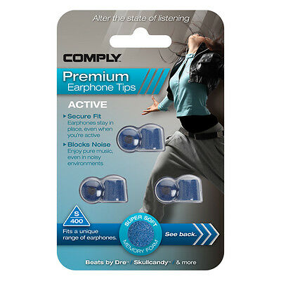 Comply Foam EarTips Active S-400 - 3 pairs -The UK's Only Authorized Distributor