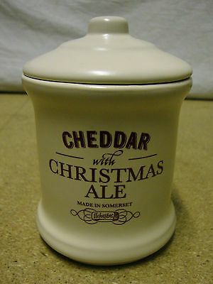 London Pottery - Chedder With Christmas Ale - Lidded Cheese Jar (12cm)