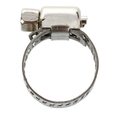 10 Pcs Stainless Steel 13mm to 19mm Hose Pipe Clamps Fastener WS