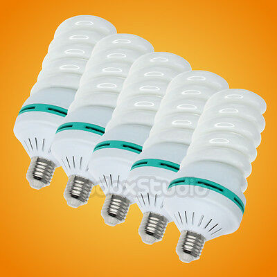 5PCS Studio 45W Output 5500K Photo Light Bulb (Equal to  150W Incandescent Lamp)