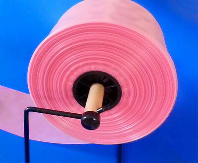 "200' 4-Mil 4 1/4"" Pink Antistatic Poly Tubing for Hard Drives Electronics"