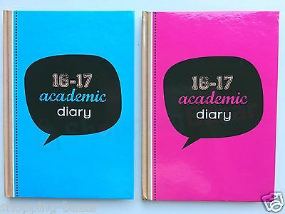 2016-2017 Academic Mid Year A5 Hardback One 1 Week To View Teacher Student Diary