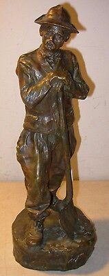 Large Rare Antique Jose Cardona Bronze Statue Original W/Foundry Mark Early 1900
