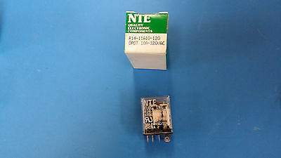 (1 Pc) R14-11A10-120 Nte Power Relay Dpdt 120Vac 10A Plug In