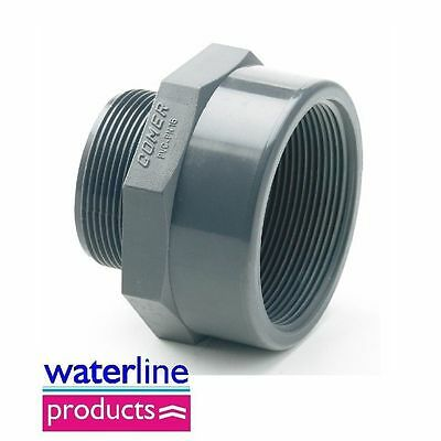 Reducing Piece Female / Male BSP Threaded Grey uPVC Pipe Fitting Imperial