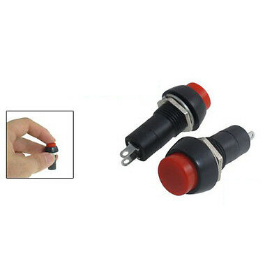New Hot Sale 5 Pcs Red AC 250V 3A SPST On/Off Self Locking Push Button Switch PK