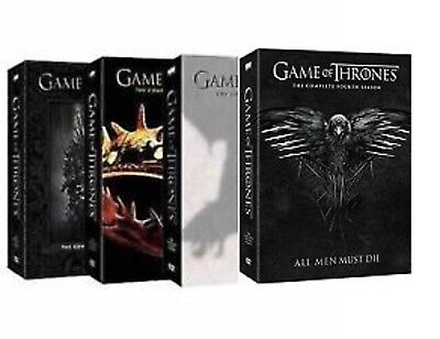 Game Of Thrones Season 1-4 Complete Seasons 1,2,3,4 DVD - NEW! - SHIPS FAST!