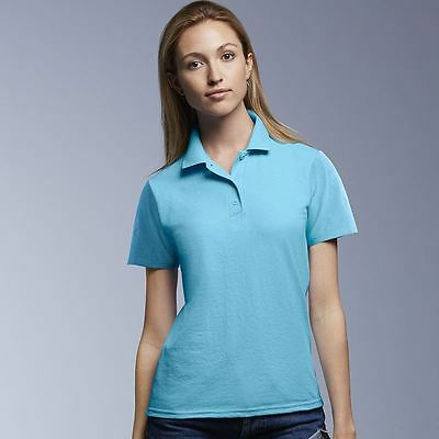 Anvil Womens Ladies Missy Fit Solids And Contrast Styles Double Piqué Polo Shirt