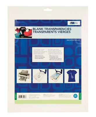 "YUDU SCREEN PRINTING BLANK TRANSPARENCIES 11"" x 14"" (5 SHEETS) CAN CUT TO 8 1/2"""