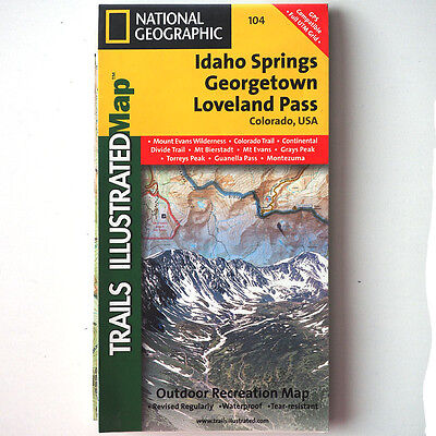 Trails Illustrated Map #104 - Idaho Springs/Georgetown/Loveland Pass Colorado