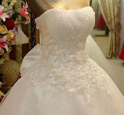 2015 New White Ivory Wedding Dress Bridal Gown Custom Size 6 8 10 12 14 16 18 A