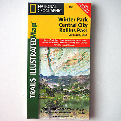 Trails Illustrated Map #103 - Winter Park / Central City / Rollins Pass Colorado