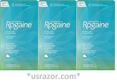 12 Rogaine Foam Women Unscented Months Supply Hair Regrowth Treatment 2016 4*3
