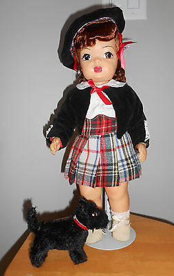 Doll Terri Lee Scottish Girl with Scottish Dog Hard to Find  1950s