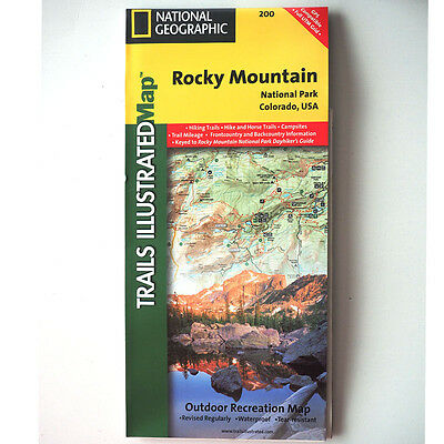 Trails Illustrated Map #200 - Rocky Mountain National Park Colorado