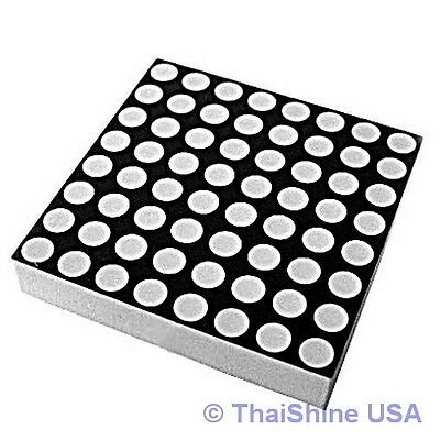 8x8 Dot Matrix LED Display Red 3mm Common Anode - USA Seller Free Shipping