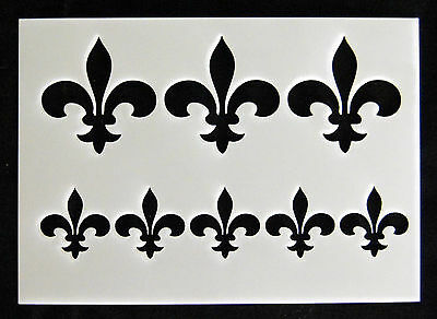 Reusable Fleur de Lys Airbrush Painting Stencil Sign Wall Door Floor