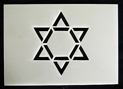 Reusable St Davids Star Airbrush Painting Stencil Sign Wall Door Floor Pavement