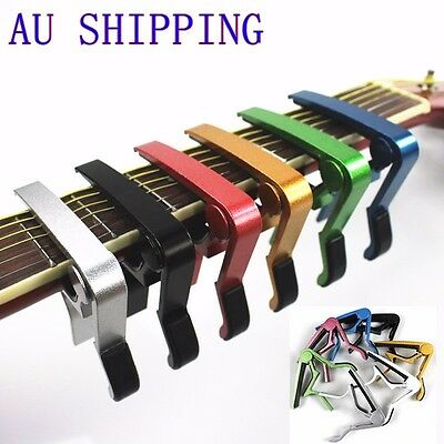 Premium Alloy Capo Quick Change Trigger Clamp for Guitar Banjo Ukulele Mandolin
