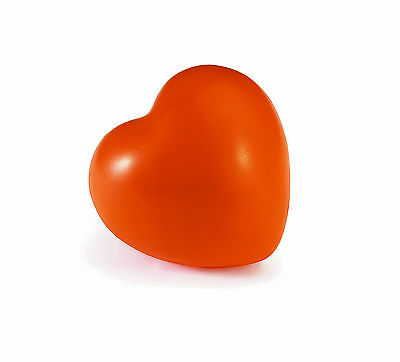 Orange Heart Shaped Anti-Stress Reliever Ball Stressball Relief  Adhd, Arthritis