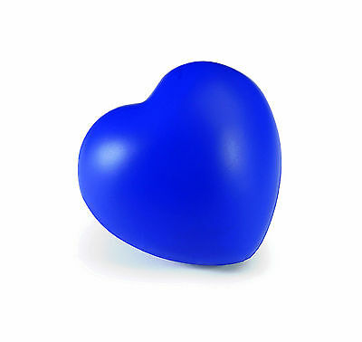 Blue Heart Shaped Anti-Stress Reliever Ball Stressball Relief Autism Arthritis