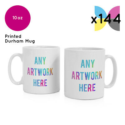 144 x WHOLESALE BULK BUY PERSONALISED PROMOTIONAL MUG GIFTS YOUR LOGOS PRINTED