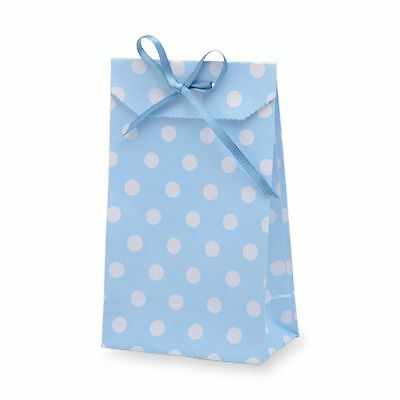 Small Gift Bags - Set of 10 - Blue Polka Dot - Party Wedding Favour  Sweet Bag