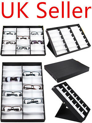 18/16 Units Sunglasses Glasses Retail Shop Display Stand Storage Box Case Tray