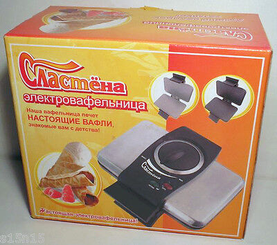 PASTRY MAKER  Electric WAFER-IRON SLASTYONA (SWEET-TOOTH) RUSSIA 220V