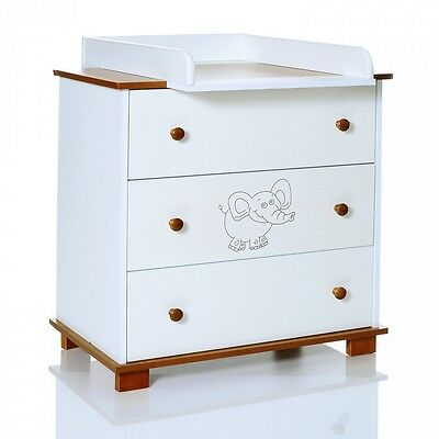Chest of Drawers Elephant Changing Table removeable unit baby room LCP Kids 70