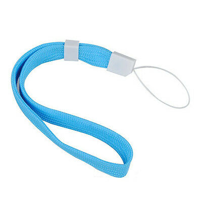2X Blue Lanyard Hand Wrist Strap With Slide For Camera Phone Wii DS PSP MP4 PK