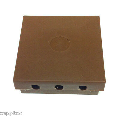 BT16A EXTERNAL CONNECTION CABLE JOINT BOX IN BROWN WITH 2x 2 WIRE JELLY CRIMPS