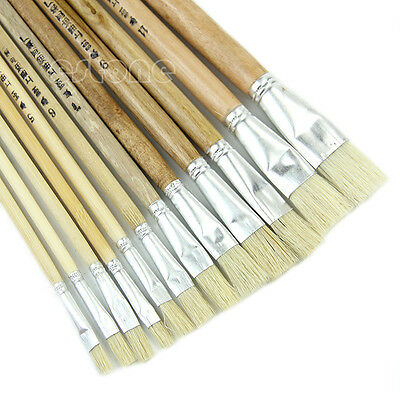12 Artist Paint Brush Set for Oil Watercolor Acrylic Art Craft Painting New